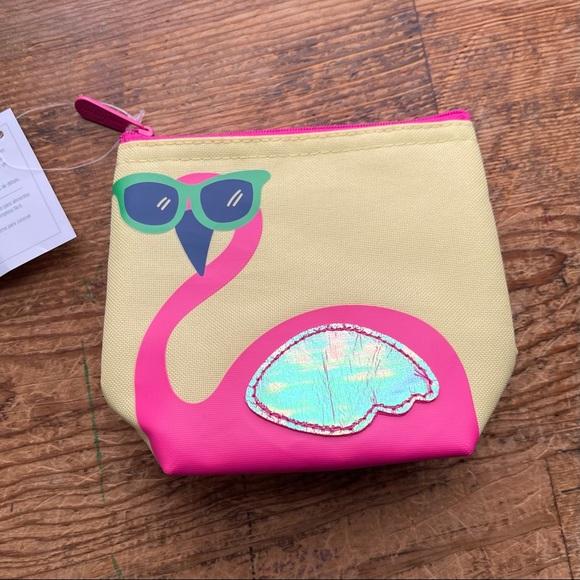 NWT Thirty-One Flamingo Cool Zip Snacker